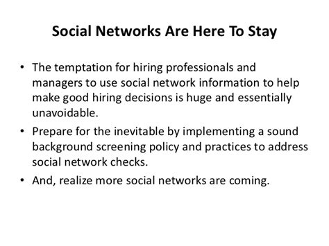 Social Network Background Check Social Networks Background Checks