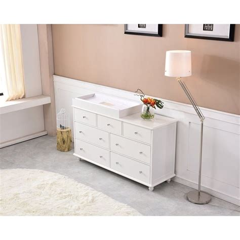 baby change table dresser cardinia 7 drawer baby change table dresser white buy