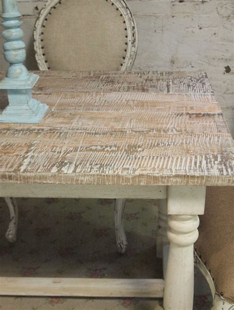 painted cottage chic shabby french linen farm table farm