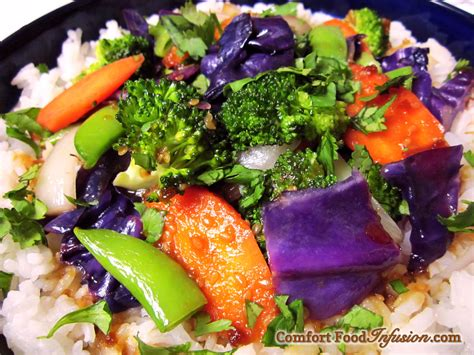 colorful vegetables colorful vegetable stir fry comfort food infusion