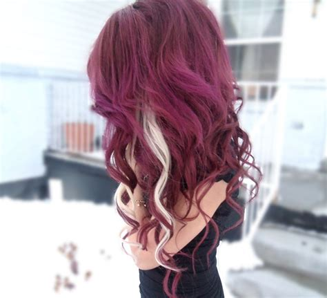 haircolor styles withn burgundy accents how to dye dark purple hair youtube
