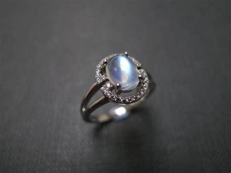 Moonstone Ring / Moonstone Engagement Ring / Moonstone