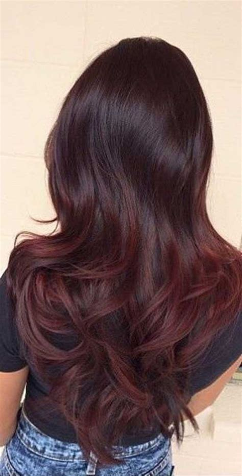 hairstyles and colors for long dark hair totally great dark red hair color ideas long hairstyles