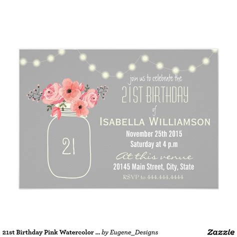 Birthday Card Invitations Best 25 21st Birthday Invitations Ideas On Pinterest