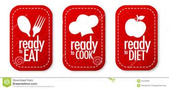 ready to eat diet and cook stickers stock photo image 21079230