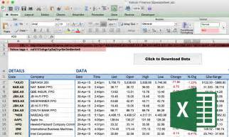 how to import share price data into excel market index