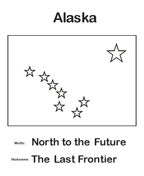 Alaska State Flag Coloring Page Alaska Tattoo Ideas Alaska Flag Coloring Page