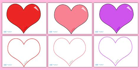 Valentines Day Card Template Ks1 by S Day Editable Template Large S