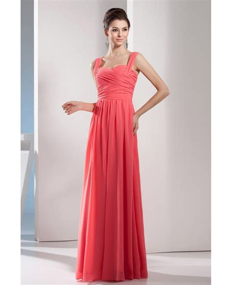 Floor Length Bridesmaid Dresses by A Line Sweetheart Floor Length Chiffon Bridesmaid Dress Op4626 136 Gemgrace