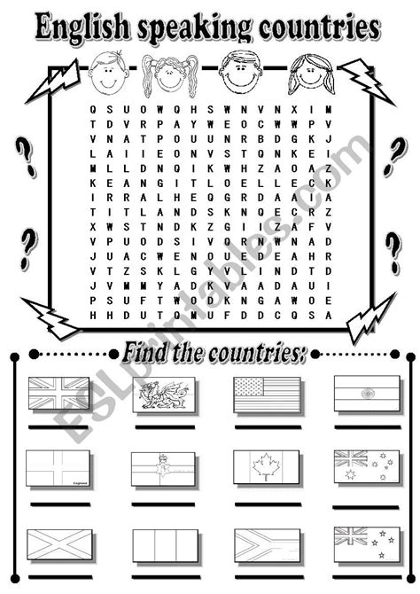 free printable word searches nutritionally speaking english worksheets english speaking countries wordsearch