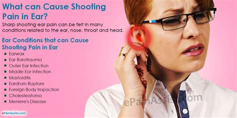 sore ear what can cause shooting in ear