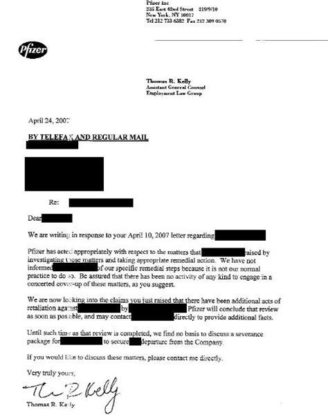 Response Letter To Whistleblower