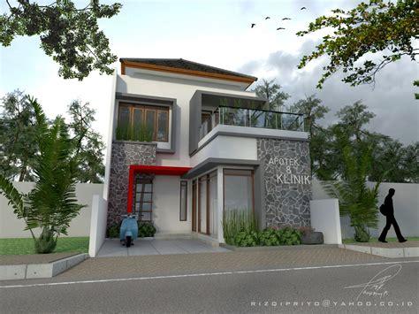desain rumah klinik  apotek tasikmalaya desain rumah