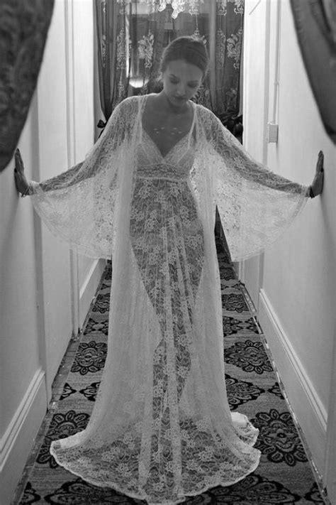 Set Dress Lilian Polka Babyterry sheer lace bridal nightgown sleepwear wedding