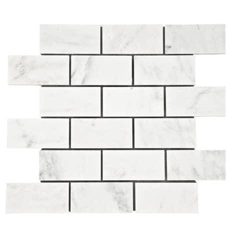 carrara carrera venato 2x4 quot honed marble mosaic tile