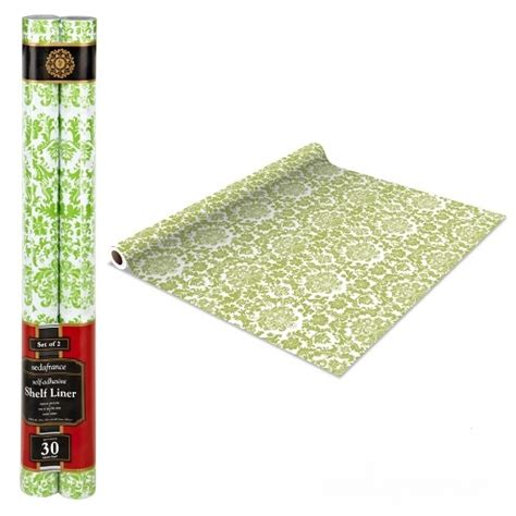 Adhesive Shelf Liners by Self Adhesive Shelf Liner Mint Green Damask Decor