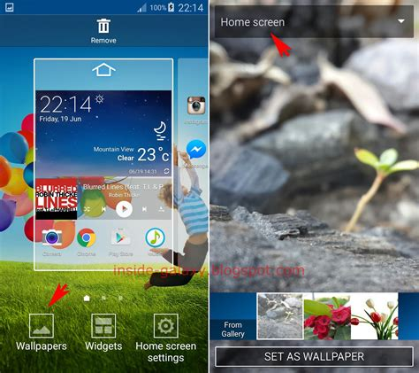 samsung galaxy s4 how to change home screen wallpaper in