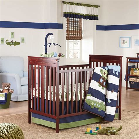 alligator bedding nojo alligator blues baby bedding collection baby