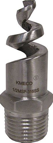 Spiral Cone Nozzle 1 2 Sus 316 kmeco 1 2 quot npt 316 stainless steel spiral spray nozzle 1 2msp 316ss 758576889917