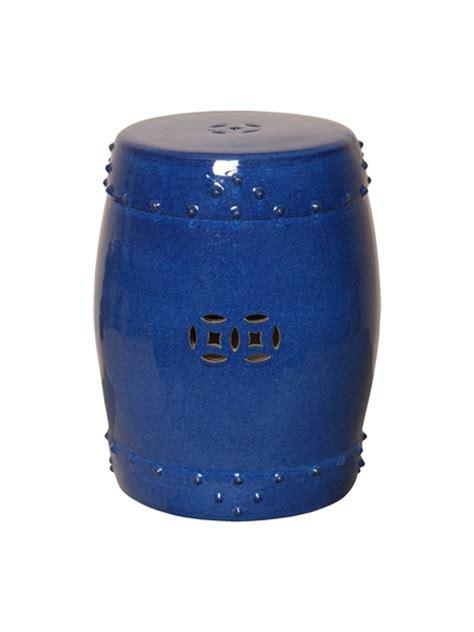 Garden Drum Stool by Emissary 1254bl Drum Garden Stool Blue Small