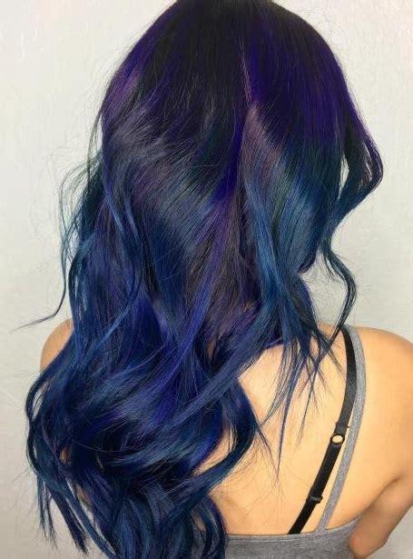 gaya rambut panjang wanita cat biru rini kursus salon