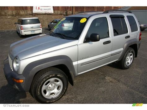 silver jeep liberty 2002 bright silver metallic jeep liberty sport 4x4