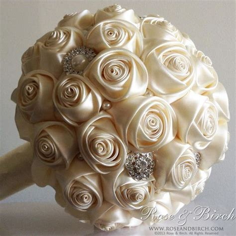 Order Bridal Bouquet by Made To Order Bridal Wedding Bouquet Satin Roses