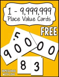 number place value cards printable 1000 images about freebies on pinterest printable