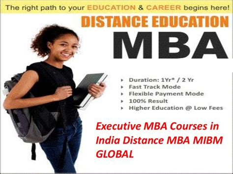 Mba Distance Education In India by Executive Mba Courses In India Distance Mba Mibm Global