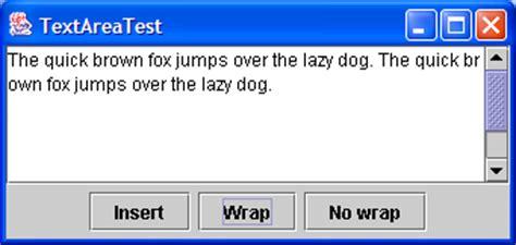 java swing textbox text input demo textarea 171 swing jfc 171 java