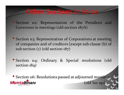 section 189 corporations act companies act 2013 provisions effective 12th sep 2013