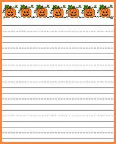 Halloween Writing Paper Template Printable Kindergarten Writing Paper With Picturebox Free