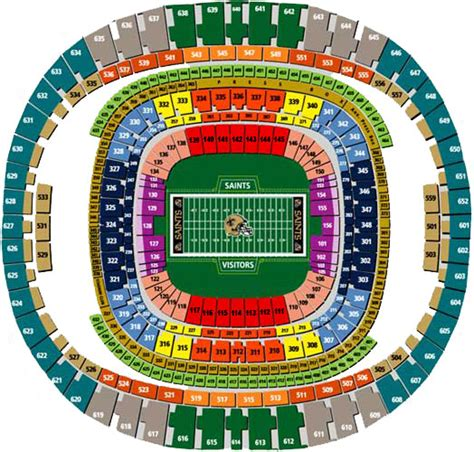 saints superdome seating map the louisiana superdome seating chart pictures to pin on