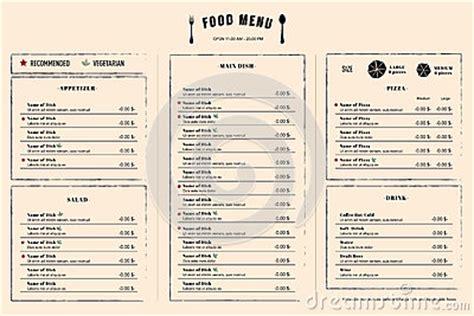 restaurant menu design template layout  logo stock