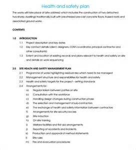 safety plan template construction safety plan template pdf images