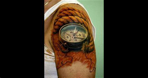 top 50 des plus beaux tatouages de boussole