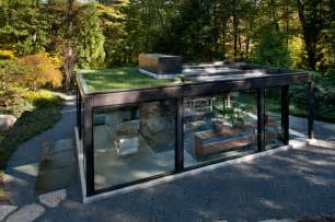 Midcentury Modern Houses - glass house in the garden modern shed boston by