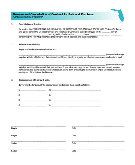 Contract Letter Cancellation Sle Sle Cancellation Of Contract Forms 8 Free Documents In Pdf Doc
