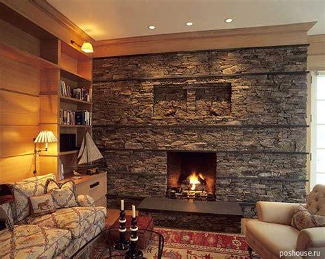 30 stone fireplace ideas for a cozy nature inspired home идеи 2012 г в дизайне интерьера гостиной комнаты с