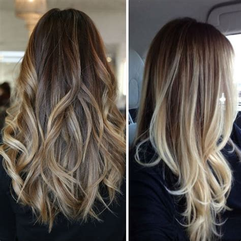 best blonde caramel highlights with ombre wavy hairstyles vpfashion