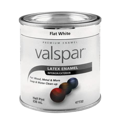 shop valspar 0 5 pint interior exterior flat enamel flat white base paint at lowes