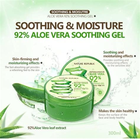 Nature Republic Aloevera 92 Soothing Gel Original Soothing Moisture Aloe Vera 92 Soothing Gel