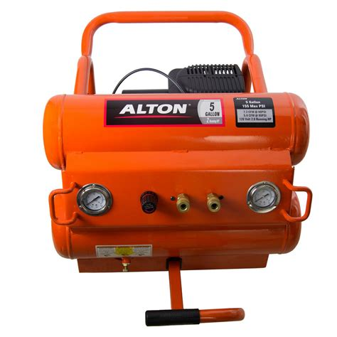 alton 2 hp 5 gallon free portable electric air compressor 155 max psi ebay