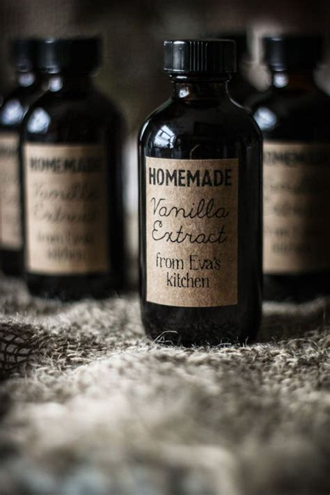 diy vanilla extract label template