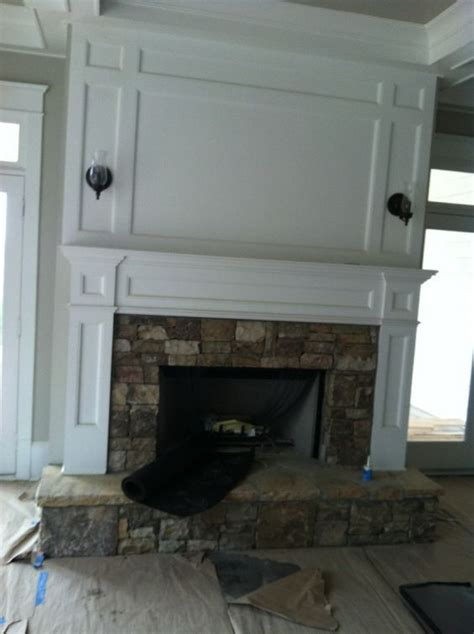 Fireplace Wiring by Fireplace With Panels Above To Hide Wiring For Tv For