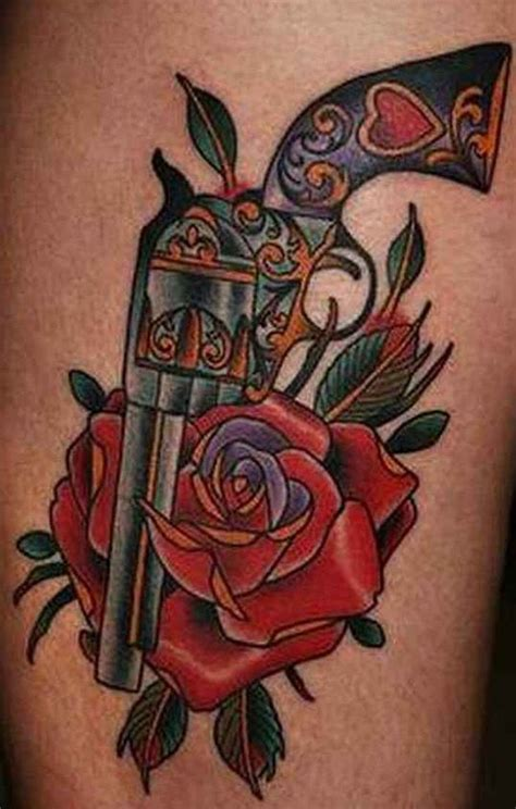 guns and roses tattoo designs 25 best ideas about gun tattoos on pistol gun