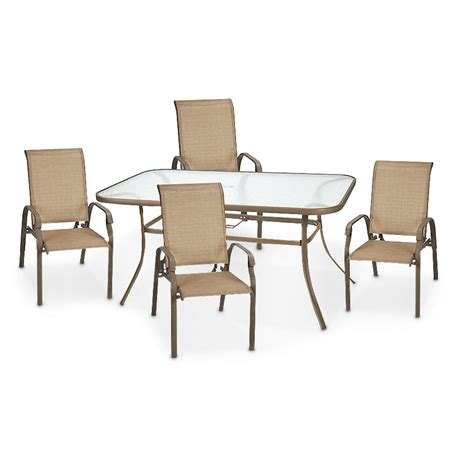 patio settee 10 pc archer patio set 214757 patio furniture at