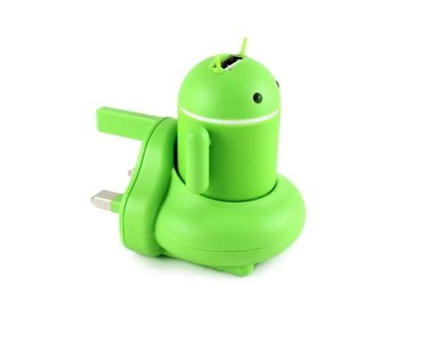 Travel Charger Robot Android 2 1 A andru android robot usb phone travel charger is a neat