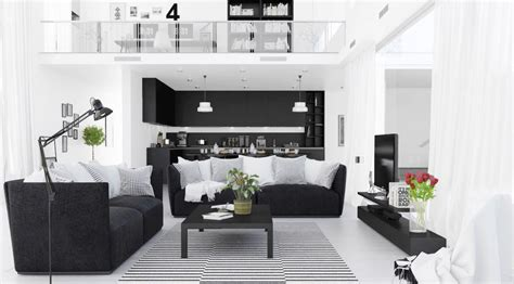 white and black living room 30 black white living rooms that work their monochrome magic