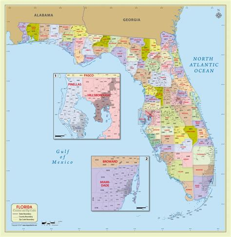 county map of florida buy florida zip code with counties map
